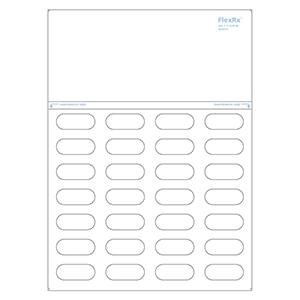 FlexRx™ Light Short Label-Plain White
