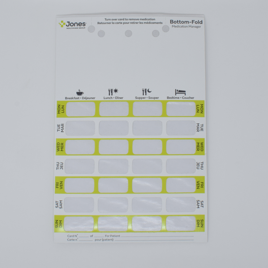 7-Day Bilingual Bottom-Fold Adherence Card-2PSA