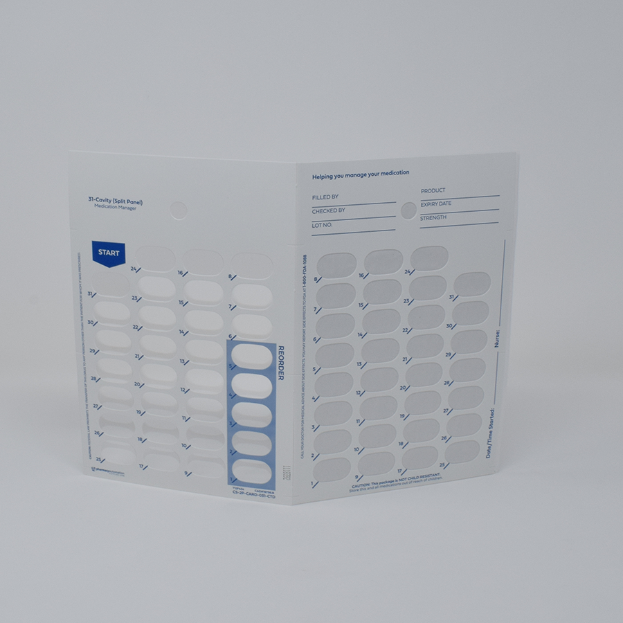 US 31-Day Auto-Fill Adherence Card - Made to Order