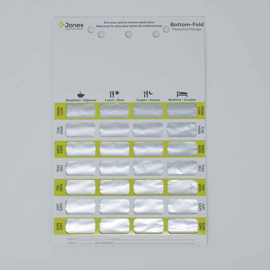 7-Day Heat-Seal Bilingual Adherence Card