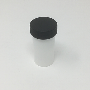 15cc White Plastic Ointment Jar With Black Lid