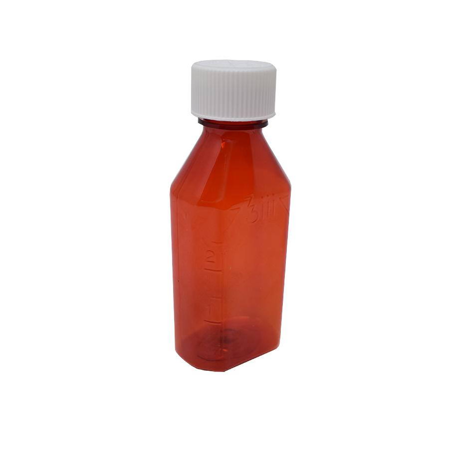 3oz/100ml PETE Amber Prescription Bottle - Narrow Neck