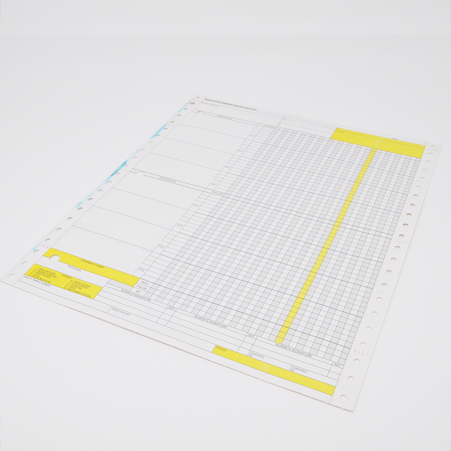 PROPHARM Yellow MAR Sheet - Made to order
