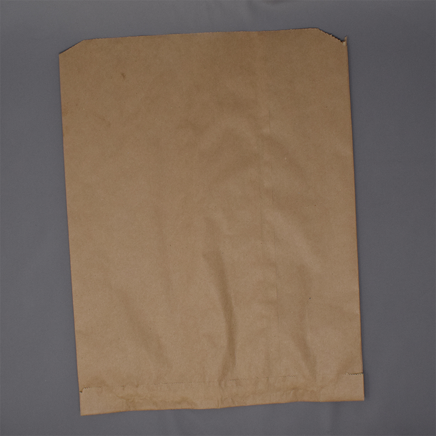 "14x11.75x3.5"" Kraft Brown Wedge Bag"