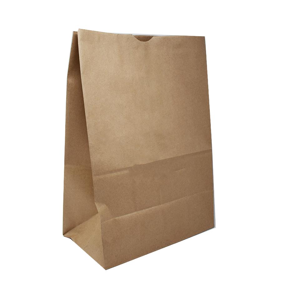 "50lb 11x6x17"" Kraft Brown Gusset Bag"