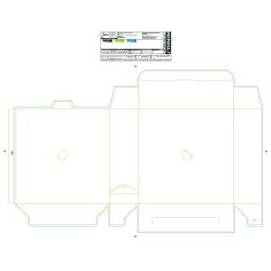 """Blank 10 x 3 x 10"""" Unit-Dose PACMED® Carton - Made to order"""