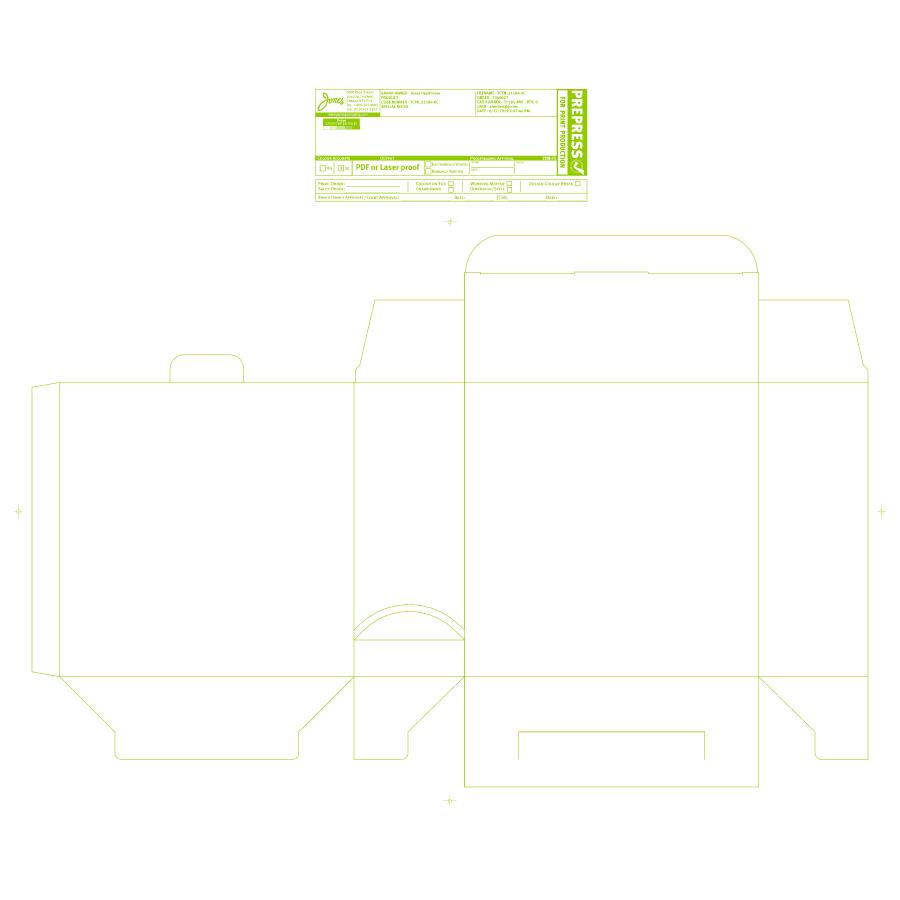 "Blank 8 x 3 x 8"" Unit-Dose PACMED® Carton - Made to order"