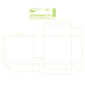 """Blank 8 x 3 x 8"""" Unit-Dose PACMED® Carton - Made to order"""