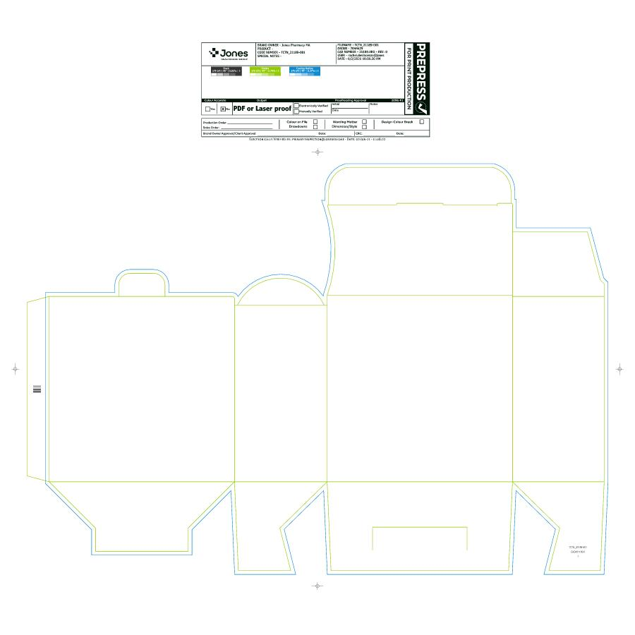 """6 x 6 x 2.97"""" Unit-Dose PACMED® Carton - Made to order"""